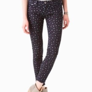 Ag The Legging Ankle Star Print Super Skinny Jeans